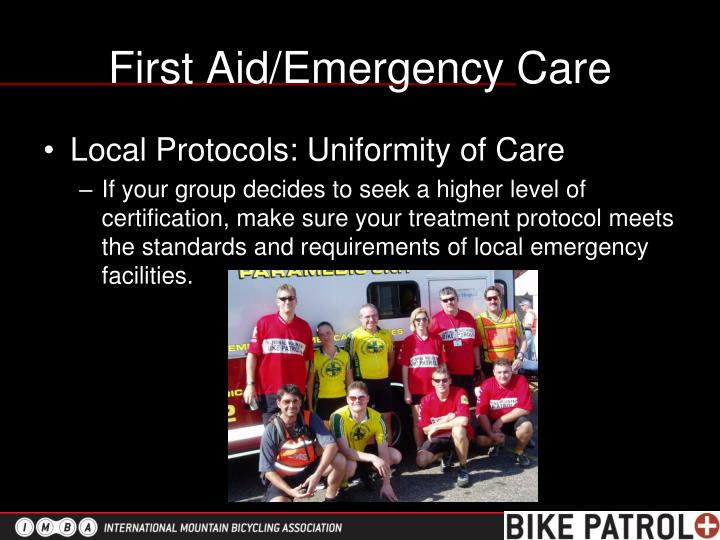 First Aid/Emergency Care