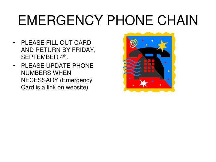 EMERGENCY PHONE CHAIN