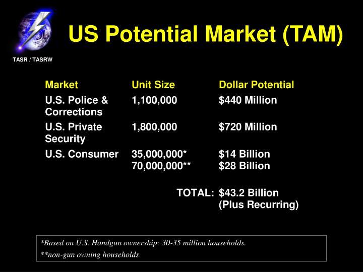 US Potential Market (TAM)