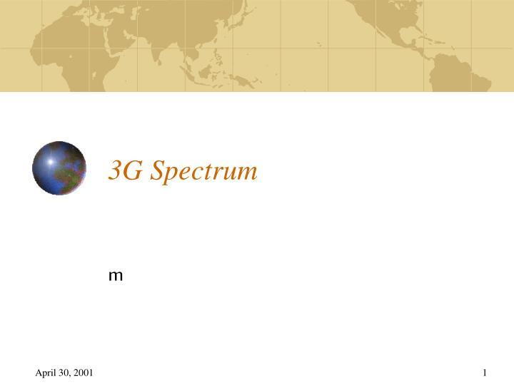 3g spectrum