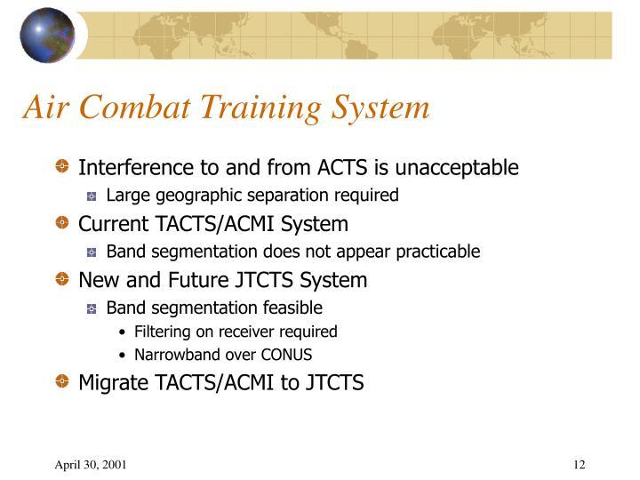 Air Combat Training System