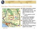 deep space network operations at 2110 2120 mhz