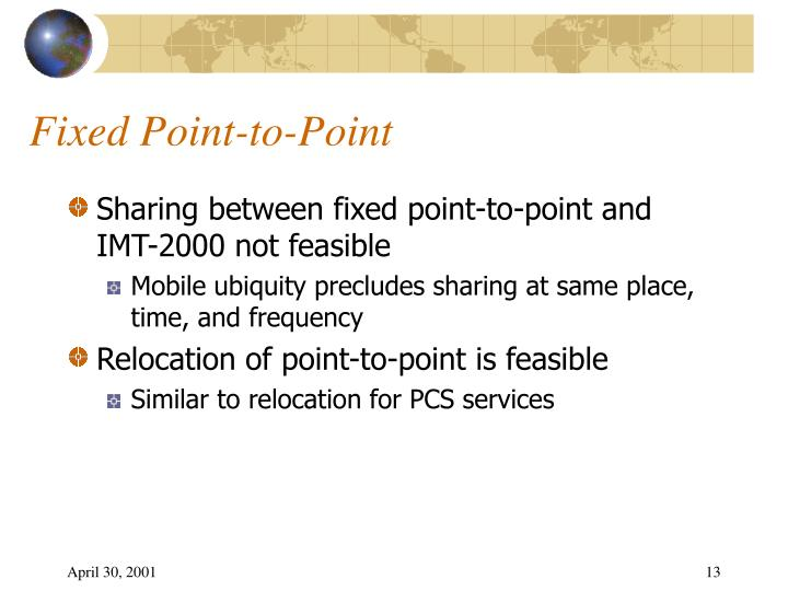 Fixed Point-to-Point