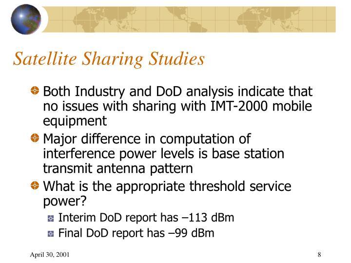 Satellite Sharing Studies