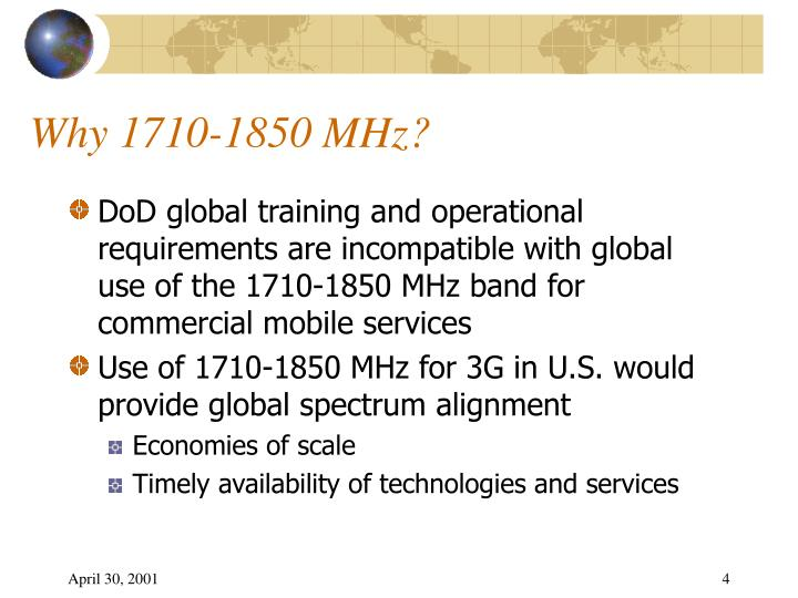Why 1710-1850 MHz?