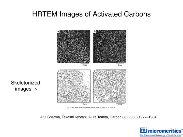 HRTEM Images of Activated Carbons