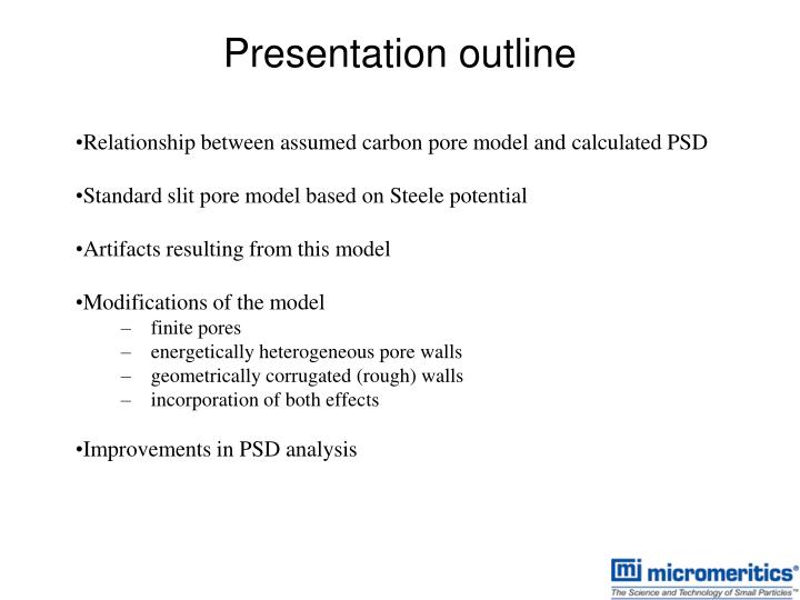 Relationship between assumed carbon pore model and calculated PSD