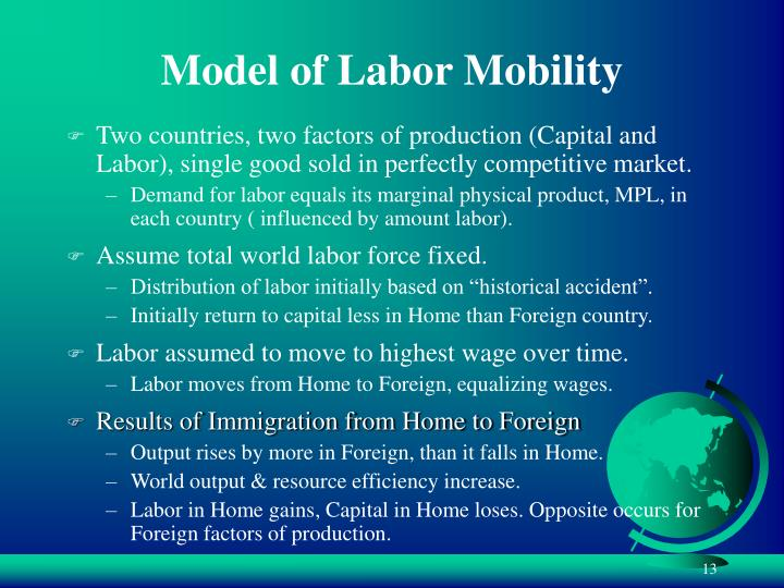 Model of Labor Mobility