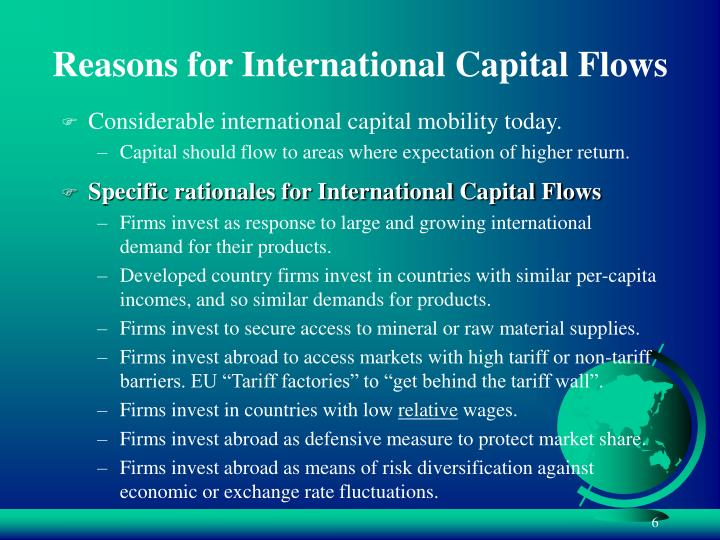 Reasons for International Capital Flows