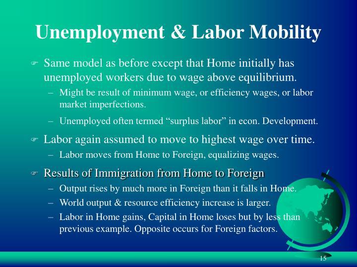 Unemployment & Labor Mobility