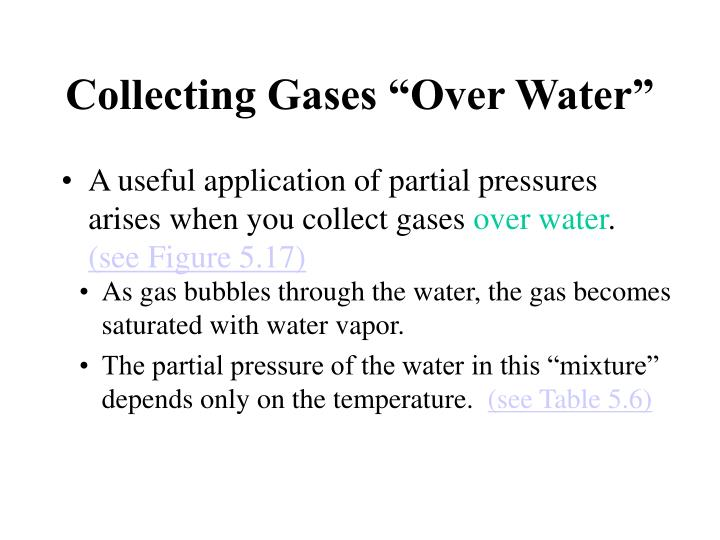 """Collecting Gases """"Over Water"""""""