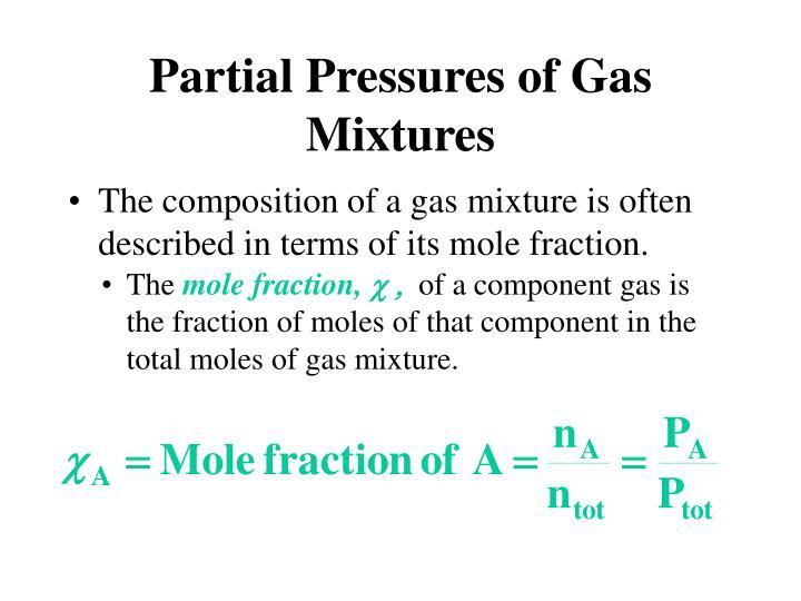 Partial Pressures of Gas Mixtures
