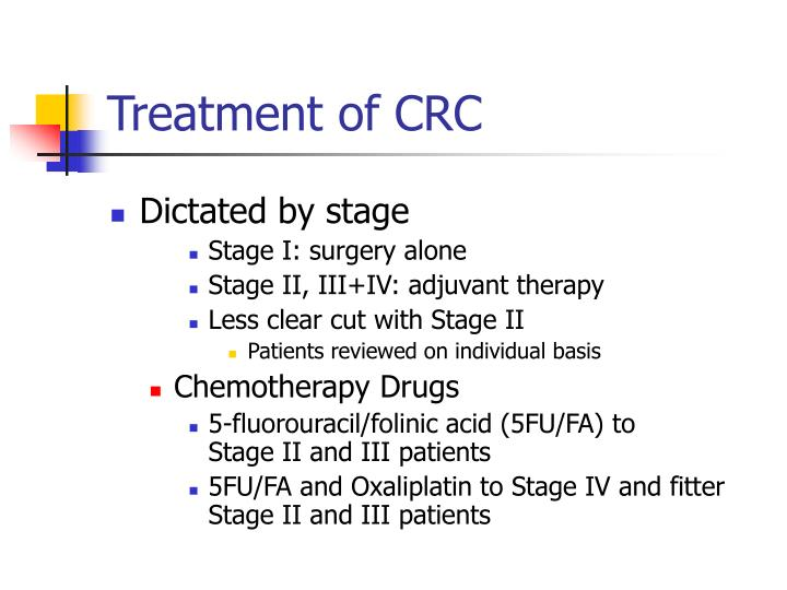 Treatment of CRC