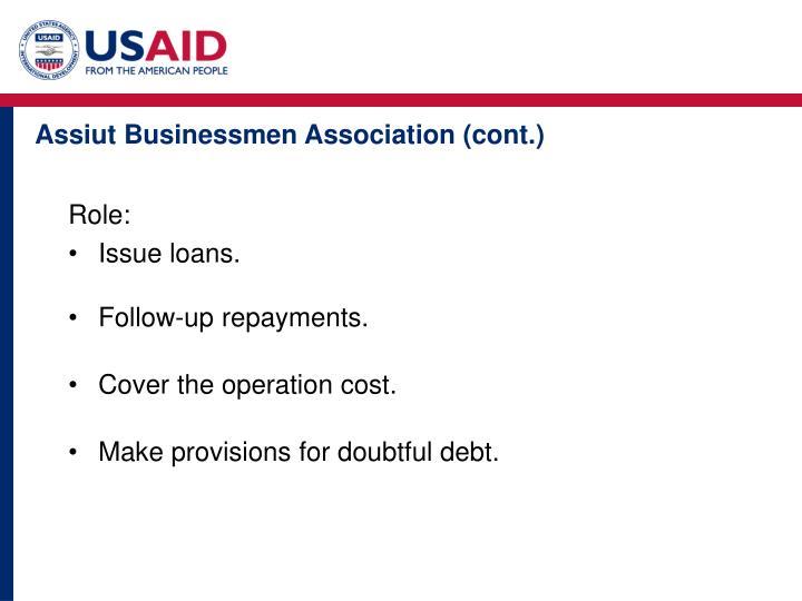 Assiut Businessmen Association (cont.)