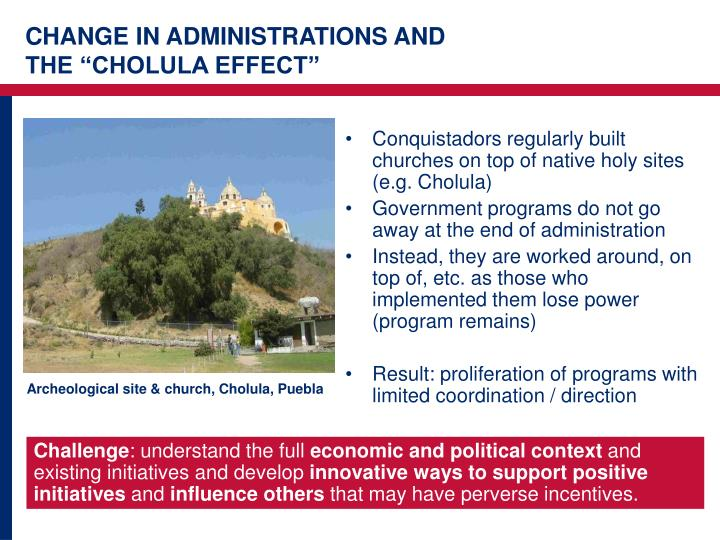 CHANGE IN ADMINISTRATIONS AND