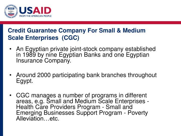 Credit Guarantee Company For Small & Medium Scale Enterprises  (CGC)