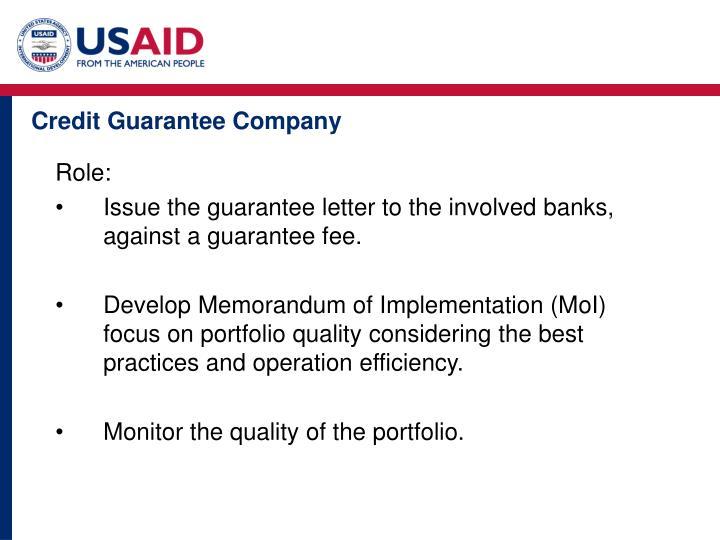 Credit Guarantee Company
