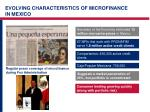 evolving characteristics of microfinance in mexico