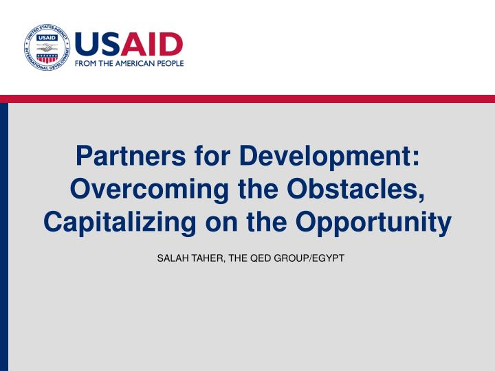 Partners for Development: