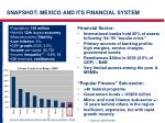 snapshot mexico and its financial system
