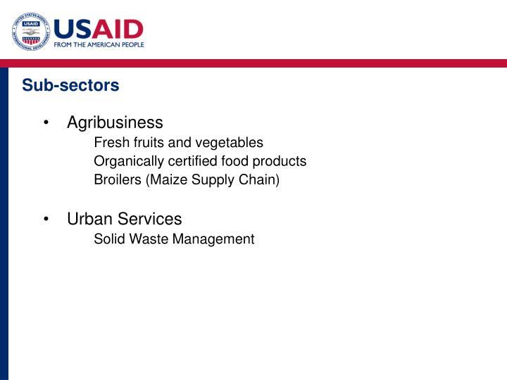 Sub-sectors