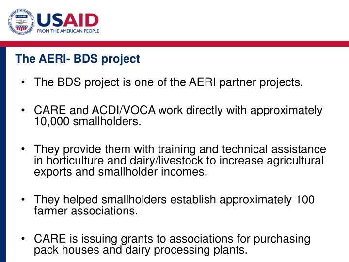 The AERI- BDS project
