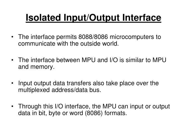Isolated Input/Output Interface