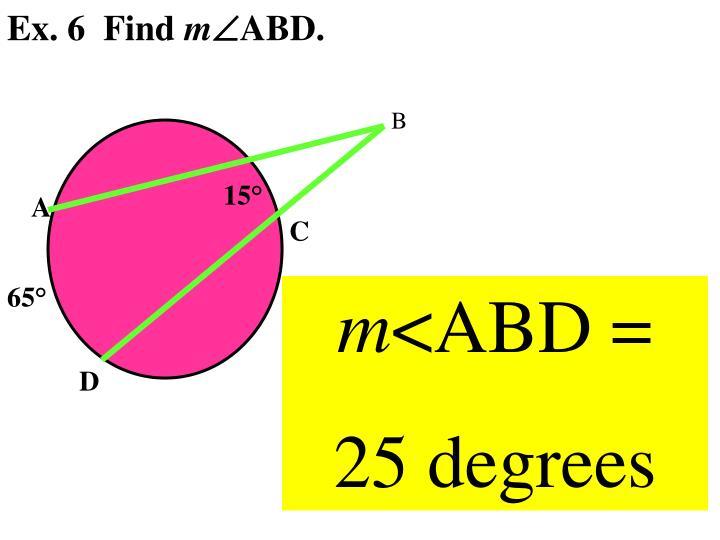 Ex. 6  Find