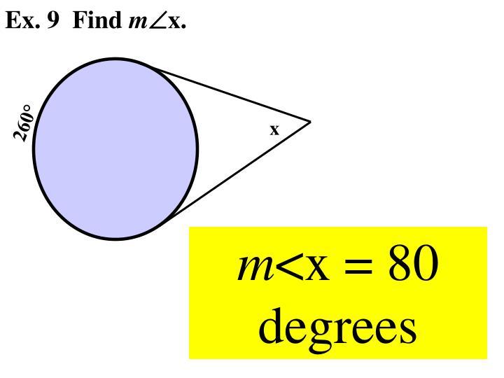 Ex. 9  Find