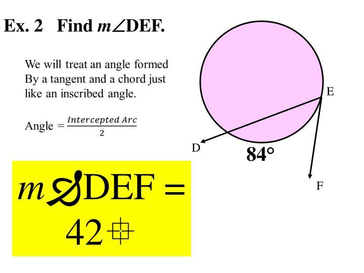 Ex. 2   Find