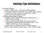 existing type definitions