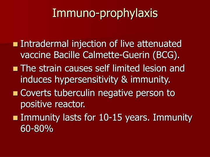Immuno-prophylaxis