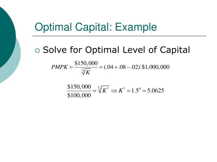Optimal Capital: Example