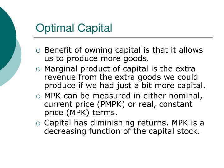 Optimal Capital