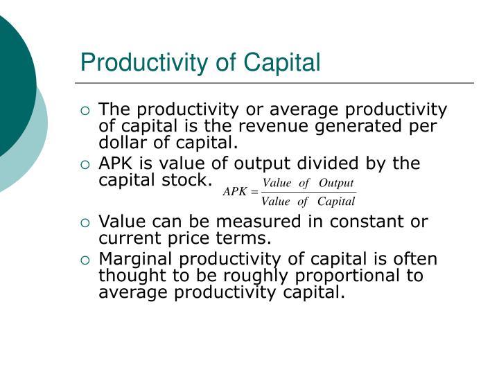Productivity of Capital