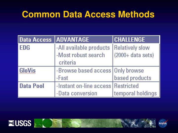 Common Data Access Methods