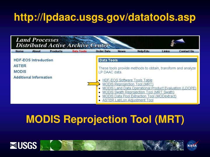 http://lpdaac.usgs.gov/datatools.asp