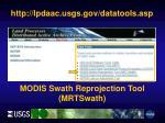 http lpdaac usgs gov datatools asp3
