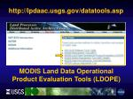 http lpdaac usgs gov datatools asp4