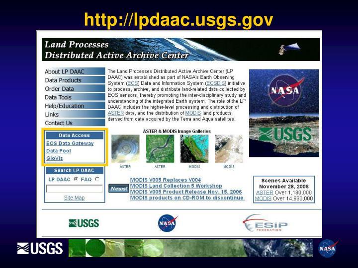 http://lpdaac.usgs.gov