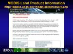 modis land product information http lpdaac usgs gov modis dataproducts asp
