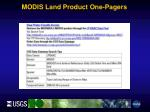 modis land product one pagers1