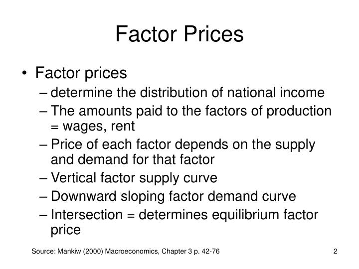 Factor Prices