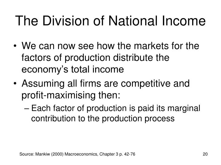 The Division of National Income