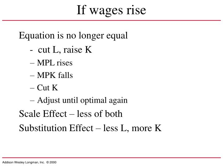 If wages rise