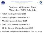 southern whitewater river watershed tmdl schedule