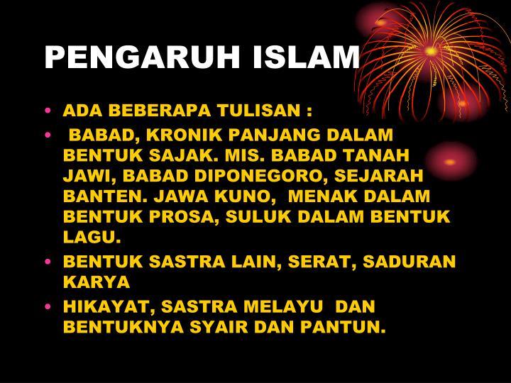PENGARUH ISLAM