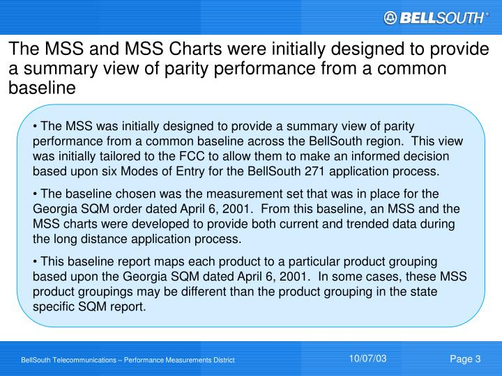 The MSS and MSS Charts were initially designed to provide a summary view of parity performance from ...
