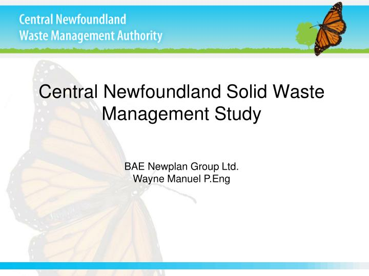 Central Newfoundland Solid Waste Management Study