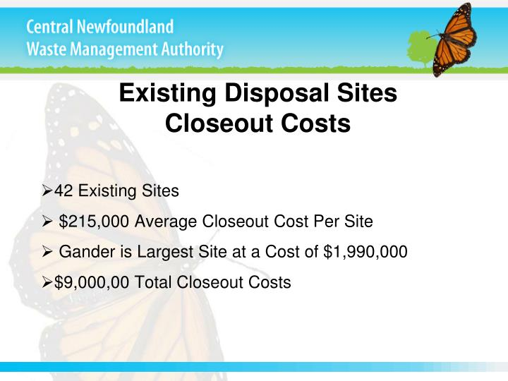 Existing Disposal Sites